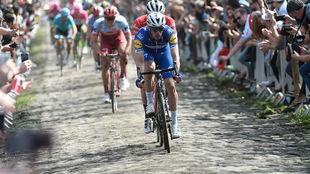 Philippe Gilbert, el domingo pasado en la París-Roubaix.