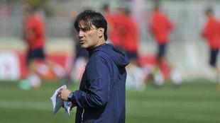 Vincenzo Montella, en un entrenamiento.
