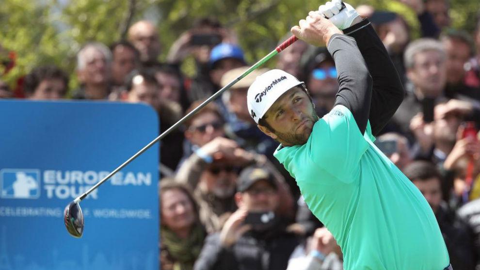 Jon Rahm, durante la segunda jornada del Open de España de golf.