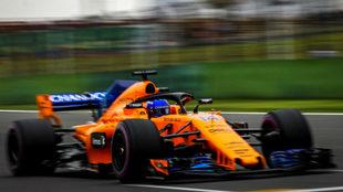 Alonso, en el circuito de Shanghái.