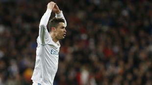 Cristiano celebra un gol esta temporada