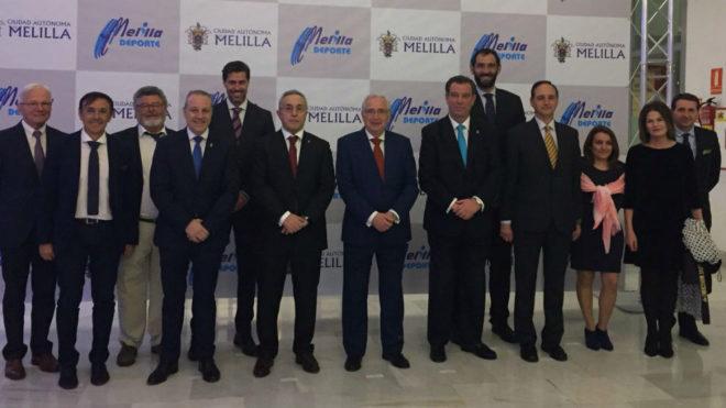 Blanco, Imbroda y varios presidentes de Federaciones.