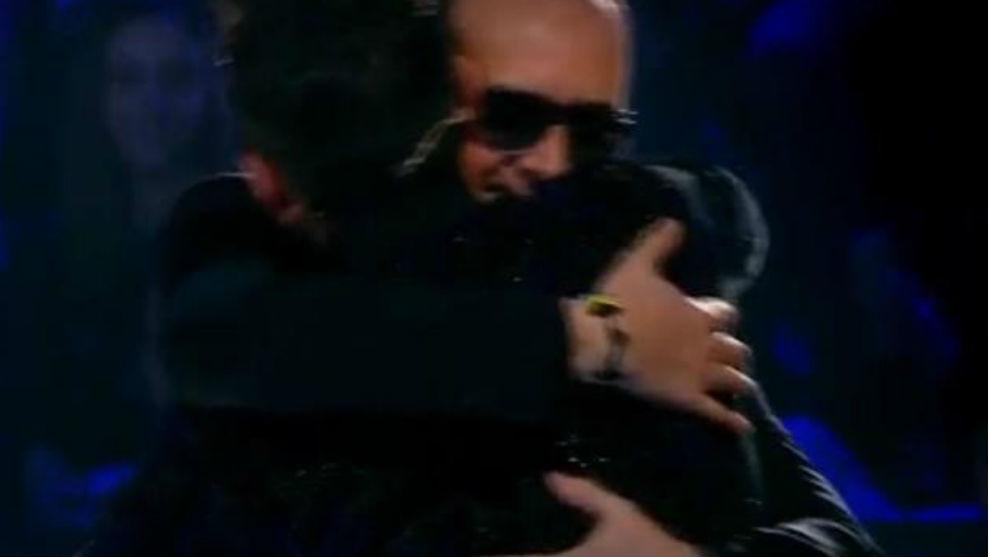 Risto Mejide y Jesús Vázquez, en el plató de 'Factor X'