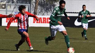 Lassad, en el Atlético B-Toledo el pasado 18 de febrero