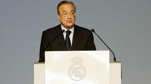 Florentino Pérez, en la pasada Asamblea del Real Madrid