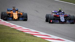 Alonso y Hartley, en Shanghái.