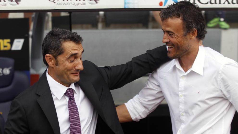 Valverde y Luis Enrique, los entrenadores del récord.