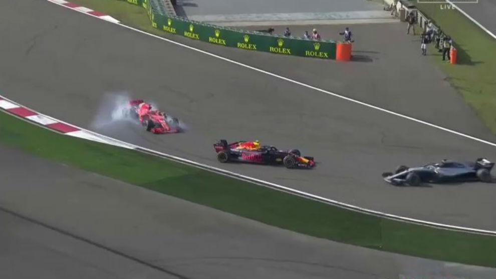 Max Verstappen, tras su incidente con Vettel