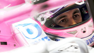 Sergio, a los mandos de su auto