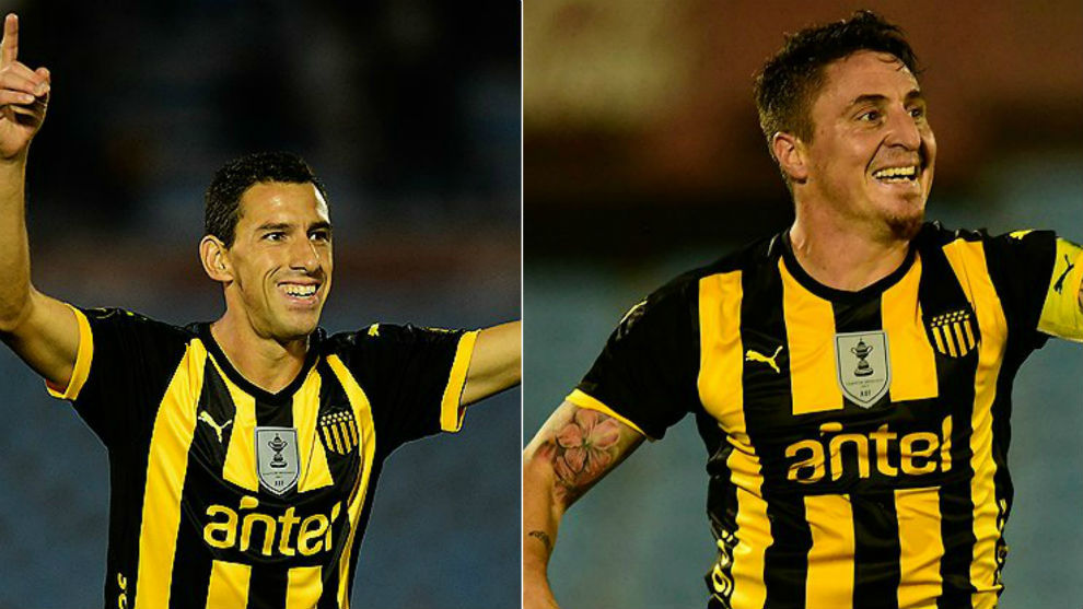 Maxi y el 'Cebolla' celebran sus goles.
