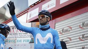 Alejandro Valverde (37), hace dos semanas en Estella.