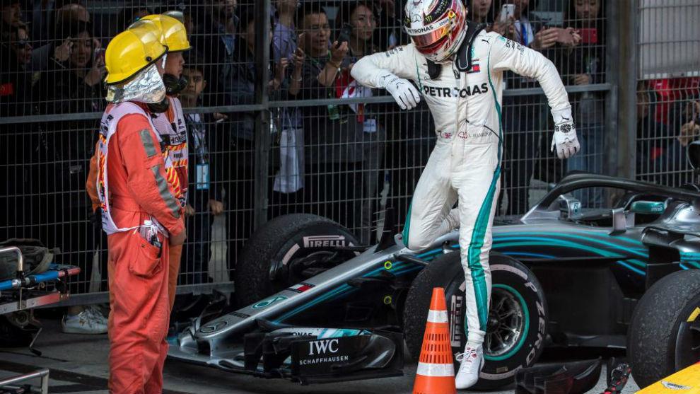 Lewis Hamilton, tras el Gran Premio de China de esta mañana.