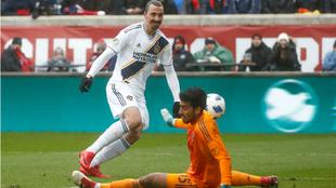 Ibrahimovic, durante un partido de la MLS.