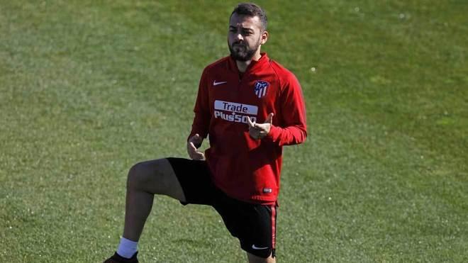 Keidi, en un entrenamiento con el Atlético.