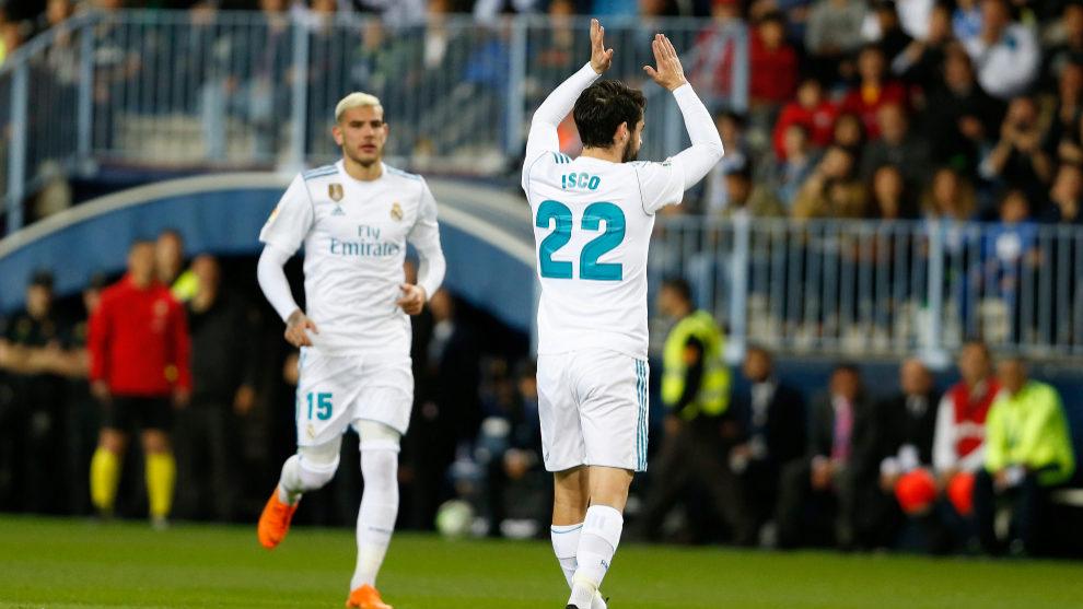 Isco pide perdón tras marcar el gol de falta.