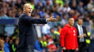 Zidane, en La Rosaleda.