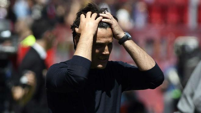 Montella se desespera en el partido ante el Villarreal.