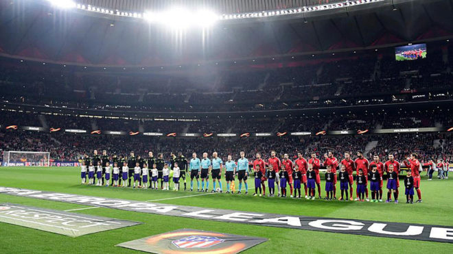 Imagen del partido entre el Atlético y el Sporting en cuartos de...