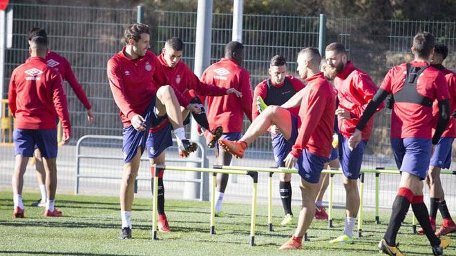 Imagen de un entrenamiento del Girona.