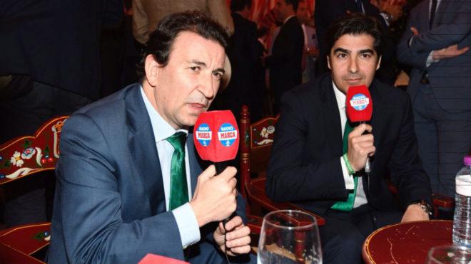 López Catalán, junto a Haro en el programa de Radio MARCA Sevilla.