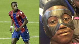 Boateng, con el Levante y en una imagen con la máscara de...