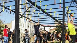 Un lance de la sexta cita de Liga Española de Carreras de Obstáculos
