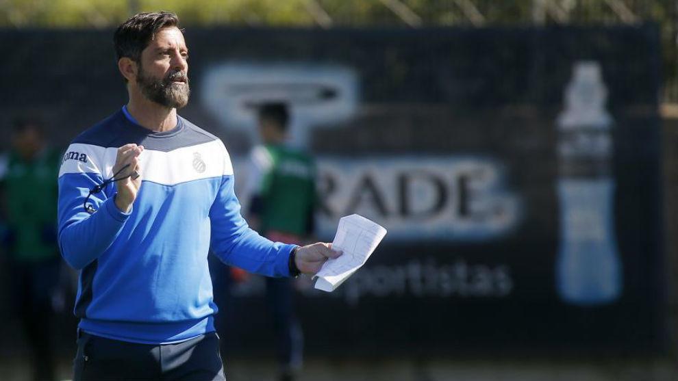 Quique Sánchez Flores, en la Ciudad Deportiva.