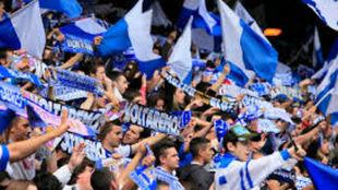 Aficionados del Deportivo de la Coruña