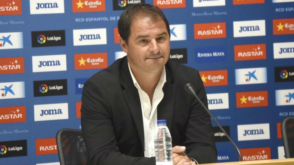 Jordi Lardín, durante una rueda de prensa.