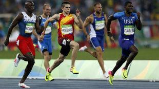 Bruno Hortelano, durante los 200 metros en Río