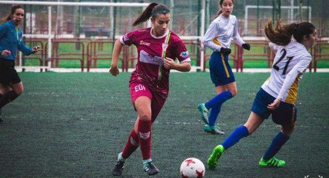 Silvia Ruiz en un partido con el EDF Logroño esta temporada.