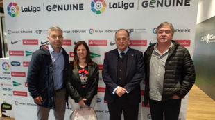 Acto de presentación de la Liga Genuine en Mallorca