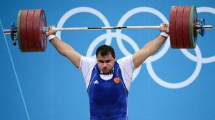 El halterófilo ruso Ruslan Albegov.