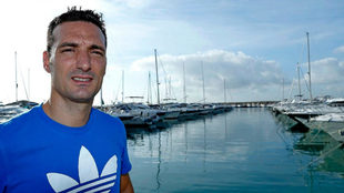 Lionel Scaloni durante una entrevista para MARCA
