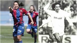 Charlyn Corral y Hugo Sánchez celebran sus goles con Levante y Real...