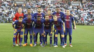 Once del Barça en Balaídos