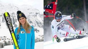 Los austriacos Nina Ortlieb y Johannes Strolz, ganadores de la Copa de...