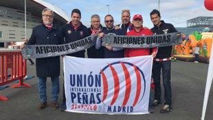 Unión Internacional de Peñas del Atlético de Madrid en el Día del...