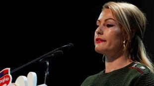 Lydia Valentín, durante el acto 'Más allá de relatos sobre...