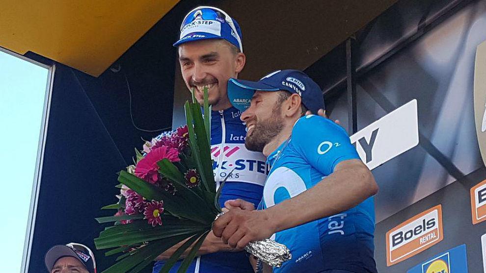 Dos campeones en el podio de Huy: Julian Alaphilippe y Alejandro...