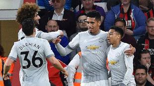 Smalling celebra su gol al Bournemouth.