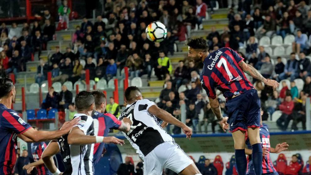 El Crotone empató el partido ante la Juventus