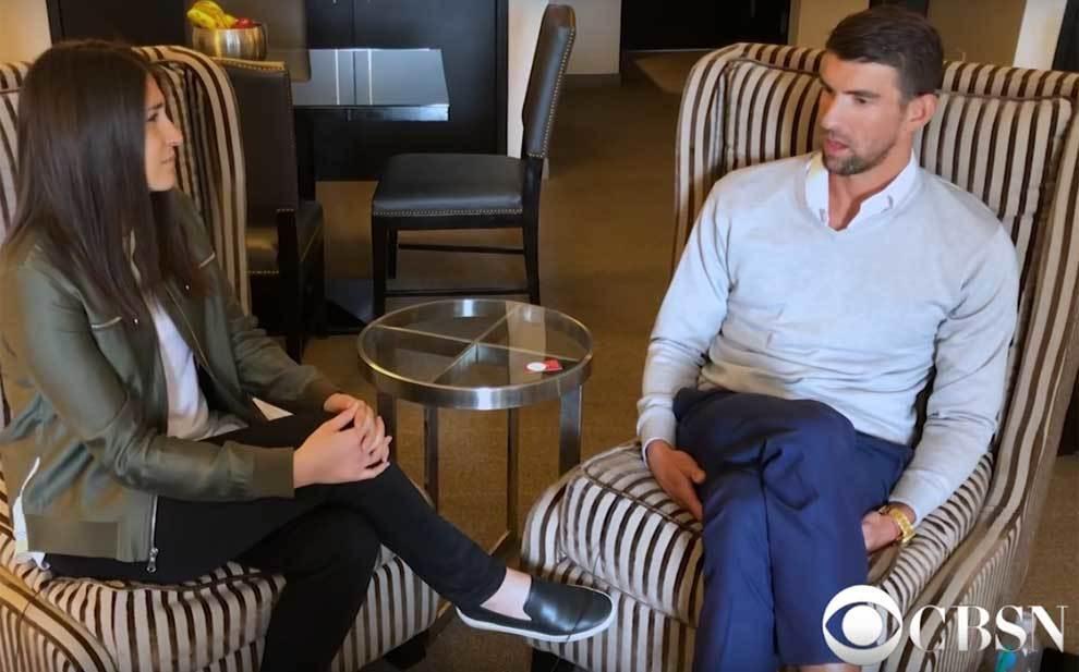 Michael Phelps durante su entrevista para CBS News
