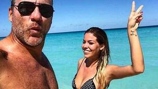 Former footballer Christian Vieri, aged 44, is in a solid relationship...