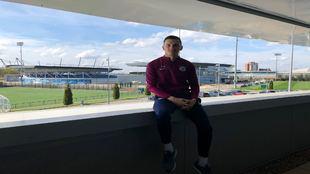 Sinan Bytyqi, en la ciudad deportiva del Manchester City
