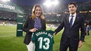 Susana Díaz, con Ángel Haro
