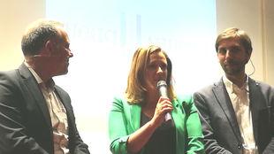 Cristina Álvarez-Mendo, este jueves en la presentación de la Vuelta...
