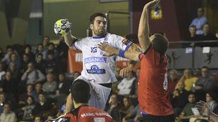 Juanjo Fernández durante un partido ante el Granollers