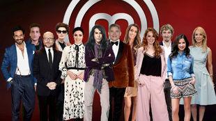 Los 12 participantes en la próxima edición de MasterChef Celebrity.