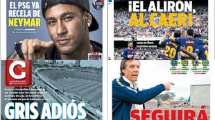 Neymar y el Barcelona protagonizan las portadas